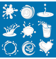milk splashes image vector image
