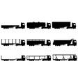 cargo trucks silhouette 02 vector image vector image
