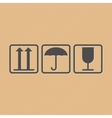 Handling and packing icons vector image