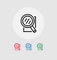 a set of search-icons banner vector image
