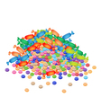 A Stack of Chocolate Candies and Hard Candies vector image