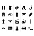 Black Sex Erotic and temptation icons vector image