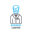 business lawyer concept outline icon linear vector image