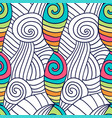 hand drawn coloring page spiral wavy background vector image