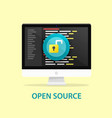 open source code computer programming vector image