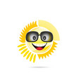 sun shine with sunglasses vector image
