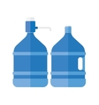 water cooler with pump vector image