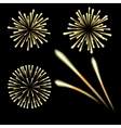 Bright fireworks in honor of the Feast on a black vector image