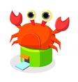 icon crab restaurant vector image vector image