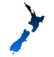 Map of New Zealand vector image