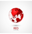 Red Globe vector image