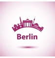 silhouette of Berlin vector image