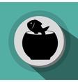 fish bowl icon vector image