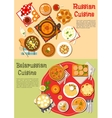 Everyday meals of russian and belarusian cuisine vector image