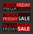 black friday banner set vector image