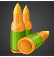 cartoon bullets icon 2d game asset vector image