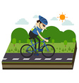 cyclists and bike race vector image