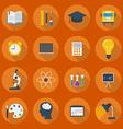 Education Flat Icon Set vector image