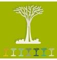 Flat design singapore tree vector image