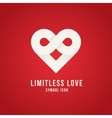 Limitless Love Concept Symbol Icon Logo Template vector image
