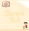 paper design with boy playing basketball vector image