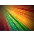 Retro rainbow starburst background vector image