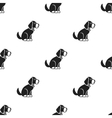 Sitting dog icon in black style for web vector image