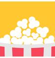 Super Big Popcorn Red White Strip Box Cinema icon vector image