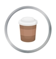 Coffee icon in cartoon style for web vector image