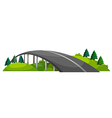 A road at the hill vector image vector image