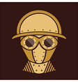 Steampunk - Vintage Character Design - Goggles vector image
