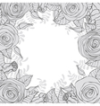Monochrome frame of flowers vector image