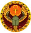 Egyptian sacred bug vector image