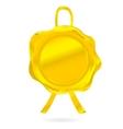 gold wax seal vector image