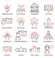 Business people training icons vector image