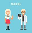 Medicine Concept Male and Female Cartoon vector image
