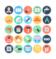 Construction Colored Icons 5 vector image