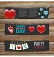 Banners Set of Three Abstract Background With vector image