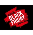 Black Friday text on grunge background vector image