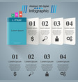 book infographic five origami paper vector image