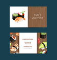 business card templates in cartoon style vector image