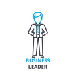 business leader concept outline icon linear vector image