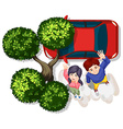 Couple and car vector image