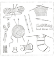 Craft icons - Sewing Icons for sewing knitting vector image