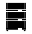 floor rack for paper the black color icon vector image