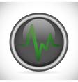 Heart pulse heatlhcare vector image