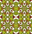 Kaleidoscope of succulents vector image