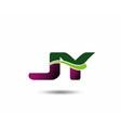 Letter J and Y monogram logo vector image