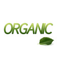 organic design logo green leaves badge vector image