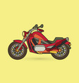 red motorbike side view graphic vector image